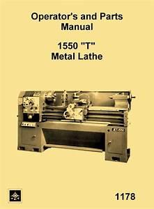 Jet  Enco  Msc  Asian 1550 T Metal Lathe Instructions