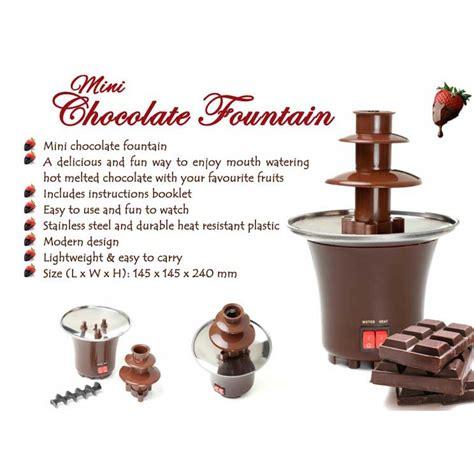 chocolate fountain mini cute shopee malaysia