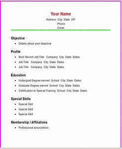 free printable resume template microsoft word