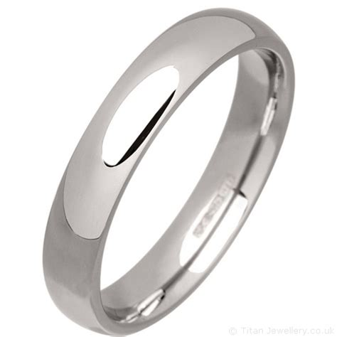 s 4mm palladium 500 court wedding ring