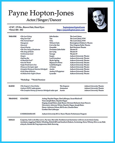 Resume For Acting by 25 Best Ideas About Acting Resume Template On