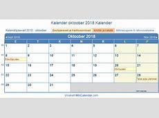Eesti Trükkimise kalender oktoober 2018