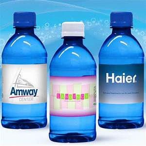 12 oz custom label spring water w flat cap blue tinted With bottled water custom label wholesale