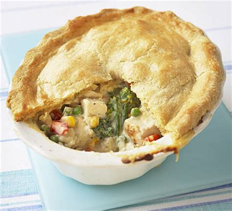 crumbly chicken mixed vegetable pie bbc good food