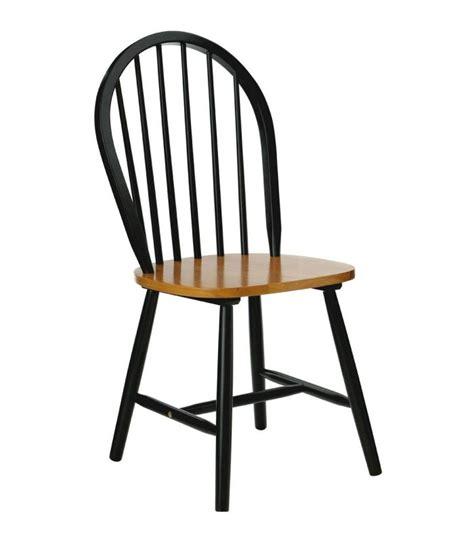 repeindre chaise en bois chaise à barreaux en bois noir mat et placage chêne