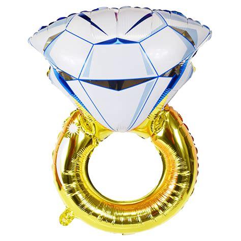 engagement ring foil mylar balloon