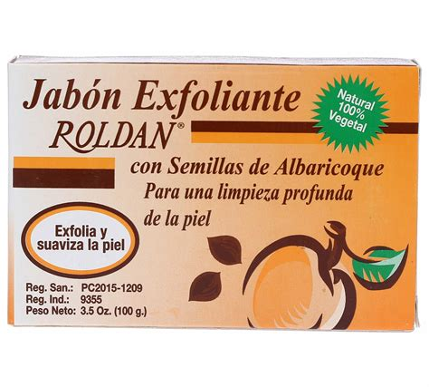 farmaconal roldan jabon exfoliante  semillas de albaricoque