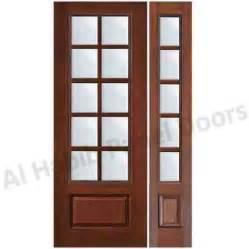 Wooden Panel Door With Glass Hpd533 Glass Panel Doors Al Habib Panel Doors