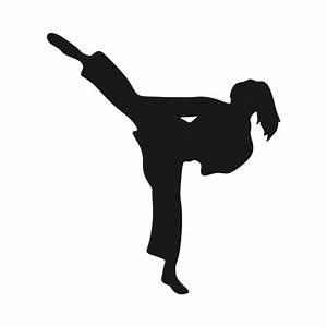 Karate Girl Svg Cuttable Design