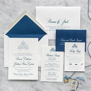 chesapeake bay letterpress wedding invitation scotti With bay photo wedding invitations