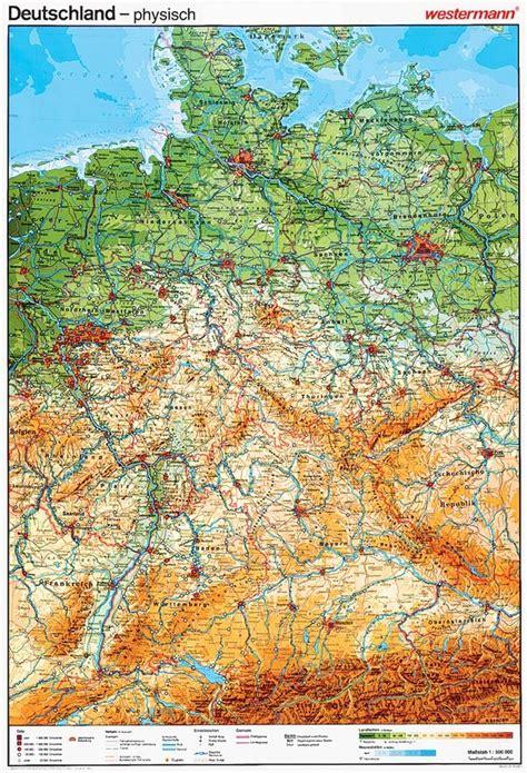Geographische Karte Deutschland