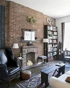 Brick, Wall, Living, Room, Ideas, 4, U2013, Decorathing