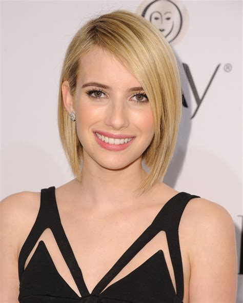Emma Roberts Graduated Bob - Short Hairstyles Lookbook ...