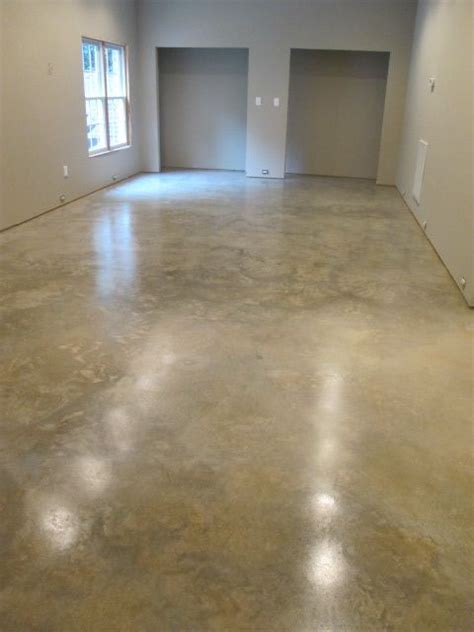 natural concrete floor sanded  sealed  euclid