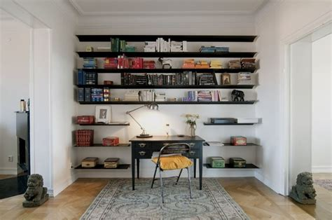 Wall To Wall Bookcase Ideas by Best 25 Wall Mounted Bookshelves Ideas On
