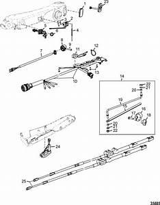 Mercury Marine Steering Systems  U0026 Components Tiller Handle Kit Components  Big Tiller