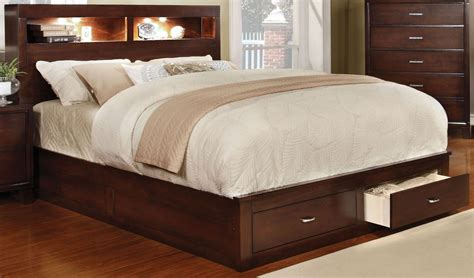 25880 california king bed with storage gerico ii brown cherry cal king storage platform bed from