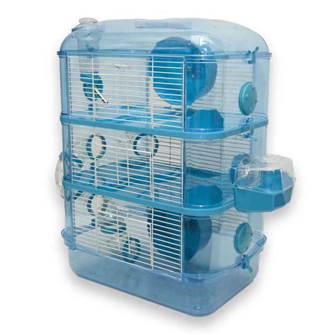 hamster cages fantazia 3 storey glitter hamster cage blue worldstores