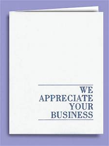 We appreciate your business abbott cards for We appreciate your business cards