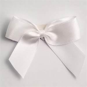White Self Adhesive Satin Ribbon Satin Bows, Favour This