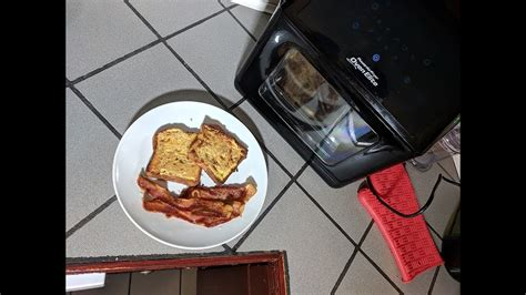 bacon toast fryer air power oven cream french recipe