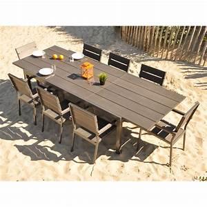 Salon De Jardin En Aluminium Pas Cher : table jardin aluminium composite ~ Dailycaller-alerts.com Idées de Décoration
