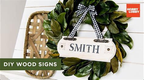 diy wood signs hobby lobby youtube