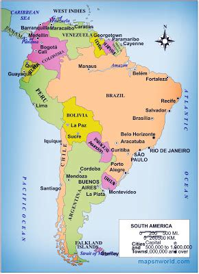 political map  south america  printable maps
