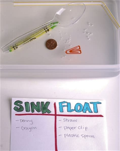 sink or float a science experiment activity education com