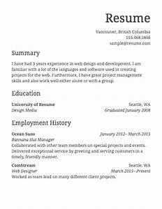 Simple work resume