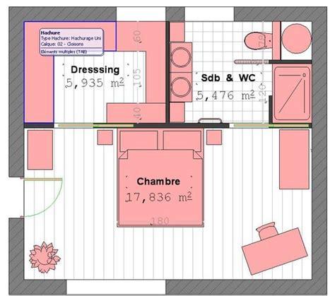 chambre parentale avec dressing et salle de bain plan suite parentale avec salle de bain et dressing 4