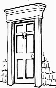 Tür Mit Fenster Zum öffnen : einfache tuer ausmalbild malvorlage architektur ~ Frokenaadalensverden.com Haus und Dekorationen