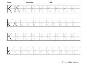 letter k tracing free tracing letter k worksheet