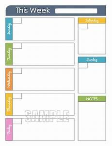 Weekly Planner Printable - Editable Organizing Planner ...