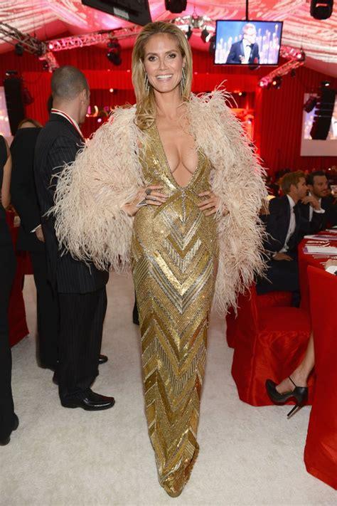 Heidi Klum Posed Inside Elton John Oscar Party Oscars