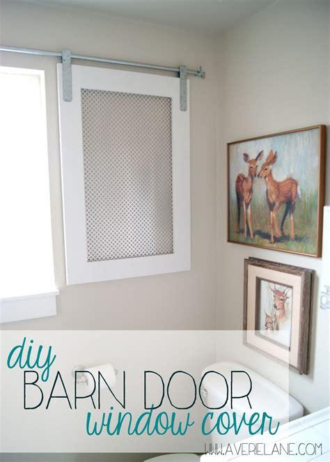 Bathroom Glass Door Cover by Project Kid S Bathroom Diy Barn Door Window Cover For The