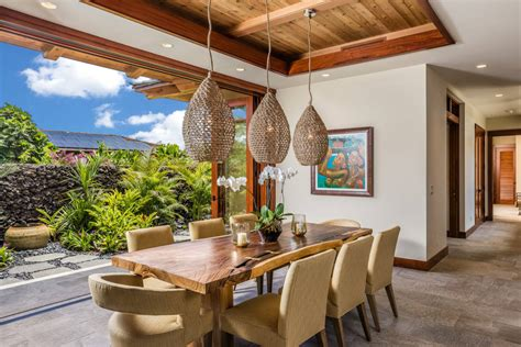 thrilling tropical dining room interiors