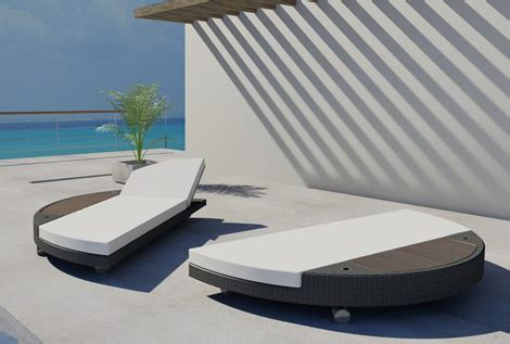 brighton beach modern island sunbed  sunbed lounger