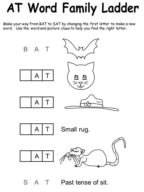 At Word Family Worksheet Free Worksheets Library  Download And Print Worksheets  Free On