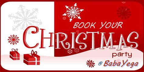 Book Your [ Christmas Party ] @ Babayega's Jasmine Room