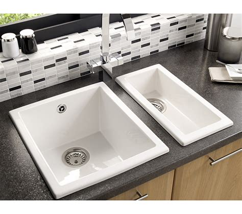 ceramic undermount kitchen sinks 1 5 astracast onyx 0 5 bowl ceramic inset or undermount 8119