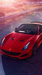 Wallpaper Ferrari California T N-largo, Novitec Rosso, red