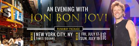 Jon Bon Jovi Tour Packages Available For Vancouver New