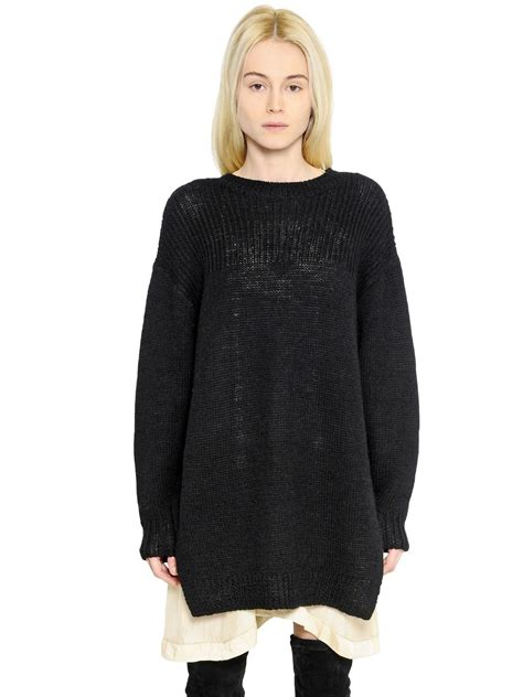 marant sweater étoile marant wool alpaca blend sweater in black