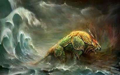 Beast Fantastic Fantasy Wallpapers Creatures Desktop Dragon