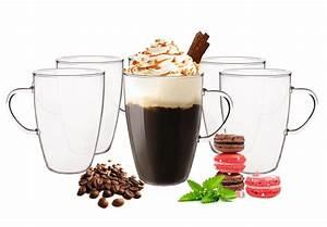 Latte Macchiato Löffel : 6 latte macchiato gl ser 350ml und 6 edelstahl l ffel ~ A.2002-acura-tl-radio.info Haus und Dekorationen