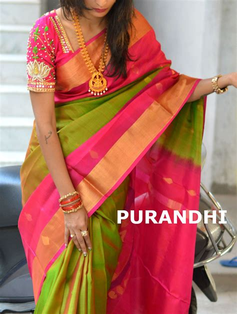 beautiful pattu saree for this wedding season with beautiful maggam work blouse sarees in 2019