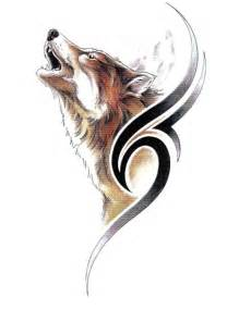 Tribal Howling Wolf Tattoo Designs