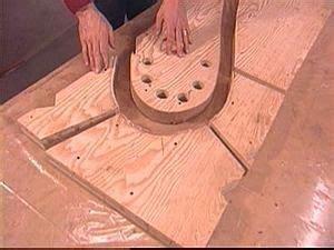 bent laminate lamp making  bending form