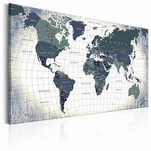 Weltkarte Auf Pinnwand : kork pinnwand weltkarte wandbilder landkarte leinwand bilder xxl k b 0011 p b ebay ~ Markanthonyermac.com Haus und Dekorationen